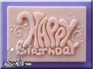 Silikonform Happy Birthday