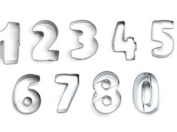 Zahlen 9erSet 4cm