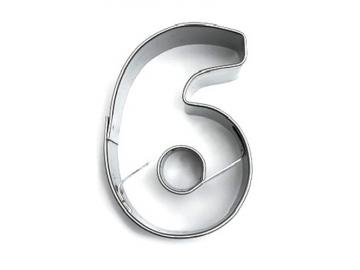 Ausstecher Zahl 6 oder 9 (sechs/Neun) 4cm