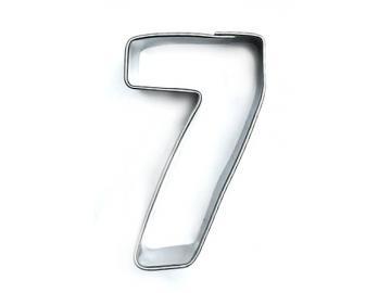 Ausstecher Zahl 7 (sieben) 4cm