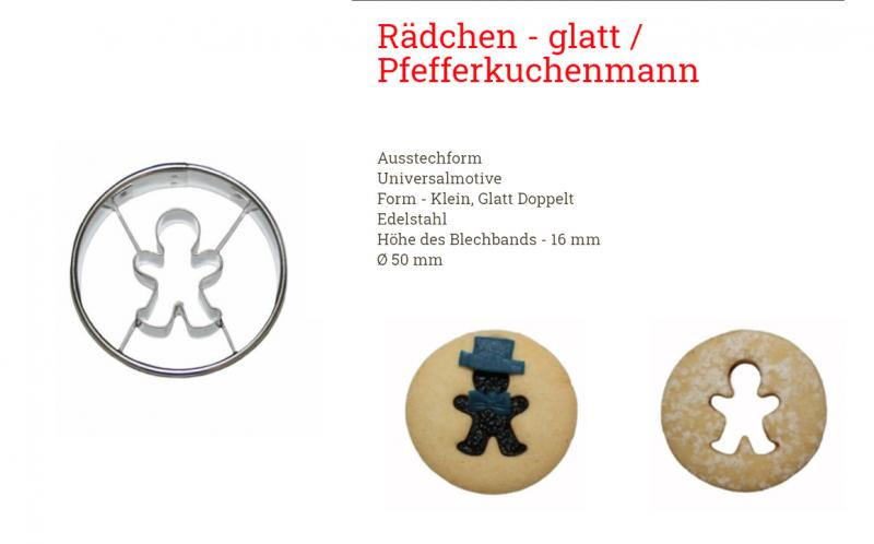 Ausstecher Linzer 5cm Lebkuchenmann