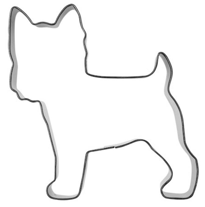 Ausstecher Yorkshire Terrier 7,5cm