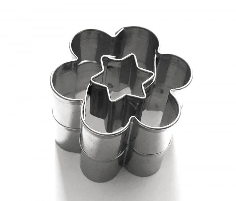 Ausstecher 2er Set Blume/Stern 36mm