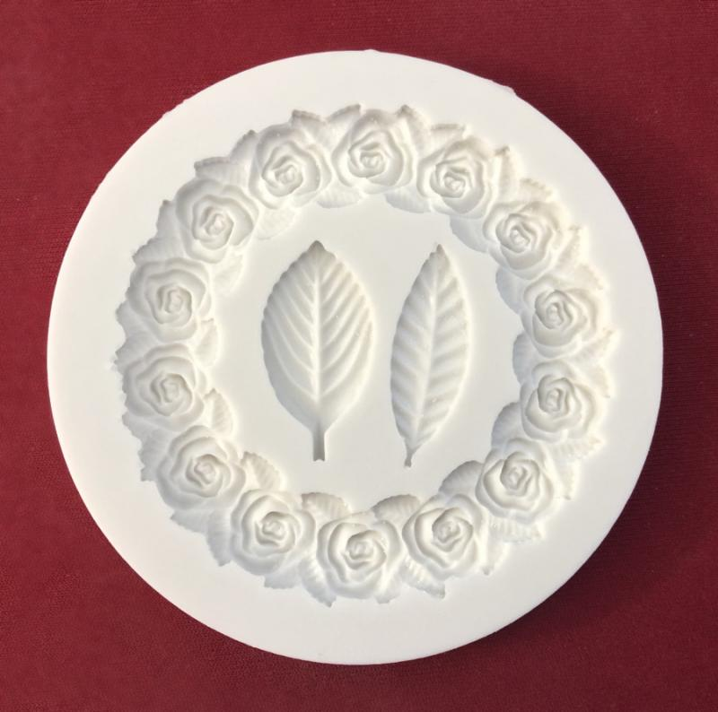 Silikonform Rosen & Blätter