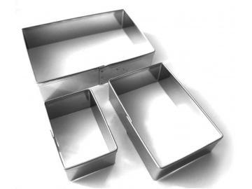 3 teiliges Ausstecher-Set Rechteck