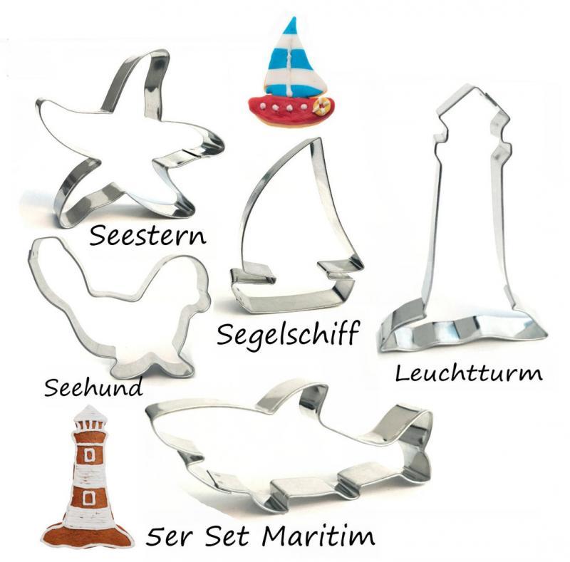 Ausstecher 5er Set Maritim II