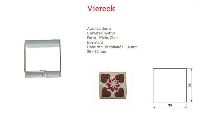 Ausstecher Viereck 36mm