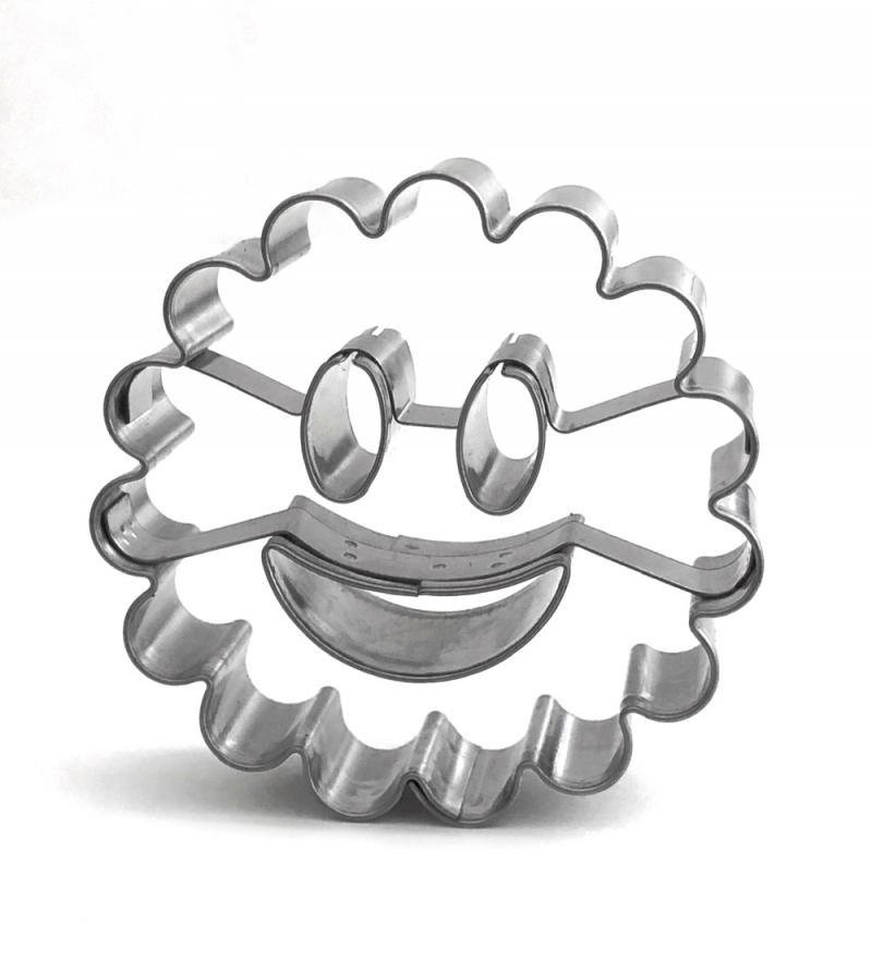 Ausstecher Smiley 50mm gewellt