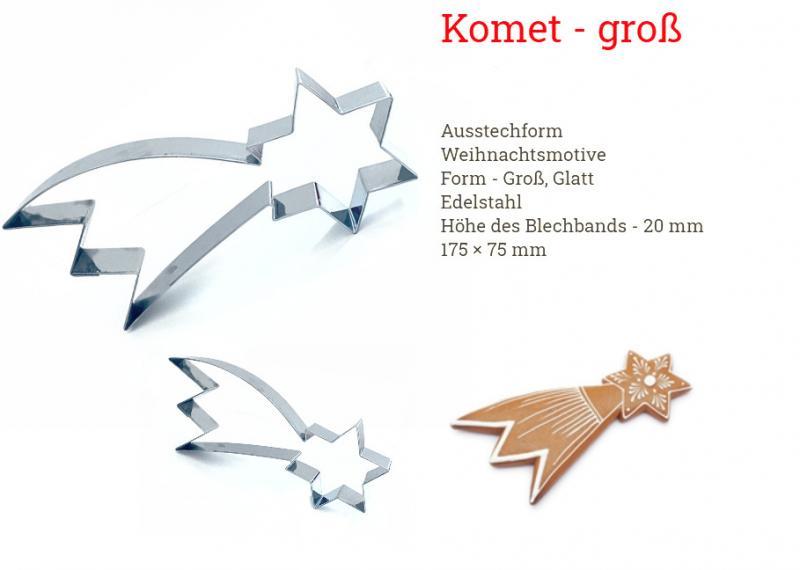 Ausstecher Sternschnuppe Komet 17cm