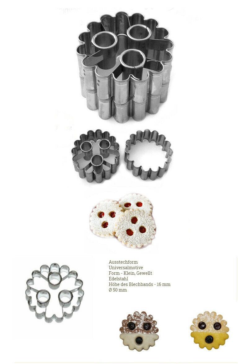 Ausstecher Ausstechform Linzer/Spitzbub`n 2erSet Edelstahl 5cm