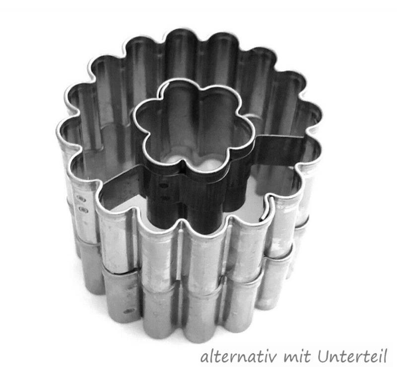 Ausstecher Linzer Blüte 36mm gewellt